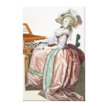 The Virtuosa in a Dress 'a l'Anglaise' with a Marl Canvas Print