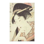 Bust portrait of the heroine Kioto of the Itoya Canvas Print