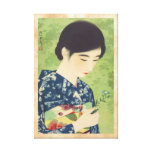 100 Figures of Beauties Wearing Takasago Kimonos Canvas Print