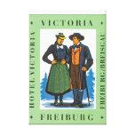 Hotel Victoria Freiburg Vintage Travel Poster Canvas Print
