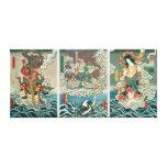 The actor Ichikawa Ebizo V as the deity Fudo Myoo Canvas Print