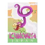 Ichinomiya Japan vintage holiday poster. Canvas Print