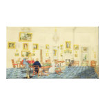The Winter Room in the Artist's House at Patna, In Canvas Print