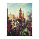 Olinda and Sophronia on the Pyre Canvas Print