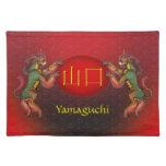 Yamaguchi Monogram Kirin Cloth Placemat