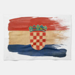 Croatia Flag Kitchen Towel