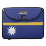 Nauru Flag Sleeve For MacBooks