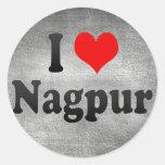 I Love Nagpur, India. Mera Pyar Nagpur, India Classic Round Sticker