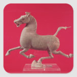 Galloping horse with one Hoof Resting on a Square Sticker