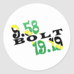 Usain Bolt Berlin 2 WR Jamaican Flag Sticker