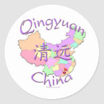 Qingyuan China Classic Round Sticker