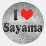 I Love Sayama, Japan. Aisuru Sayama, Japan Classic Round Sticker