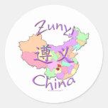 Zunyi China Classic Round Sticker