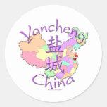 Yancheng China Classic Round Sticker