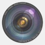 Secret hidden camera lens illusion classic round sticker