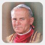 Pope Saint John Paul II Square Sticker