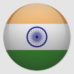 Flag of India Classic Round Sticker