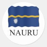 Nauru flag classic round sticker