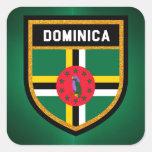 Dominica Flag Square Sticker