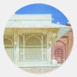Tomb of Sheikh Salim Chishti in Fatehpur Sikri Classic Round Sticker