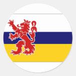 The Netherlands Limburg Flag Classic Round Sticker