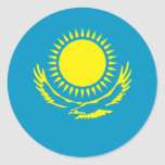 Kazakstan Flag Classic Round Sticker