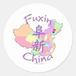 Fuxin China Classic Round Sticker