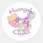 Huangshi China Classic Round Sticker