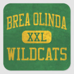Brea Olinda Wildcats Athletics Square Sticker