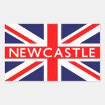 Newcastle : British Flag Rectangular Sticker