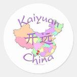 Kaiyuan China Classic Round Sticker