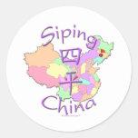 Siping China Classic Round Sticker
