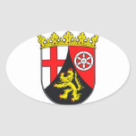 Rhineland-Palatinate coat of arms Oval Sticker