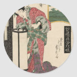 Numazu: Senju of the Ôsakaya by Keisai Eisen Classic Round Sticker