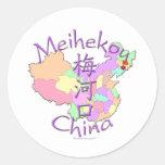 Meihekou China Classic Round Sticker