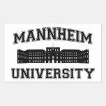 Universität Mannheim / Mannheim University Rectangular Sticker