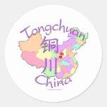 Tongchuan China Classic Round Sticker