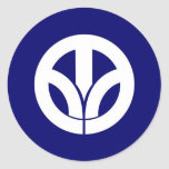 japan prefecture region flag county fukui classic round sticker