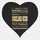 Düsseldorf-Neuss of Germany Typography Art Heart Sticker