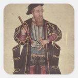 Francisco de Almeida, illustration Square Sticker