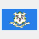 Connecticut Flag Rectangular Sticker