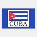 Cuba Rectangular Sticker