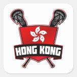 Hong Kong Lacrosse Square Sticker