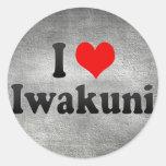 I Love Iwakuni, Japan Classic Round Sticker