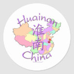 Huainan China Classic Round Sticker