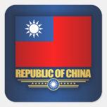 Taiwan (Republic of China) Flag Square Sticker