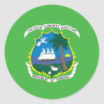 Liberian coat of arms classic round sticker