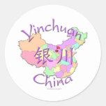 Yinchuan China Classic Round Sticker