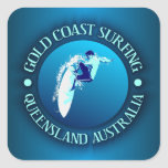 Gold Coast Surfing Square Sticker