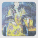 Portrait of the Empress Dowager Cixi Square Sticker